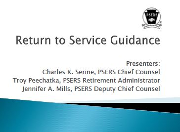 Return to Service Guidance