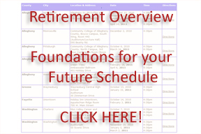 Foundations for your Future Schedule